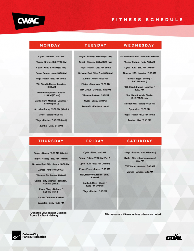 CWAC Fitness Schedule-1