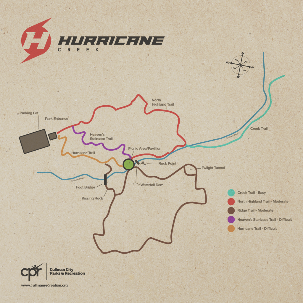 Hurricane Creek Park Trail Map