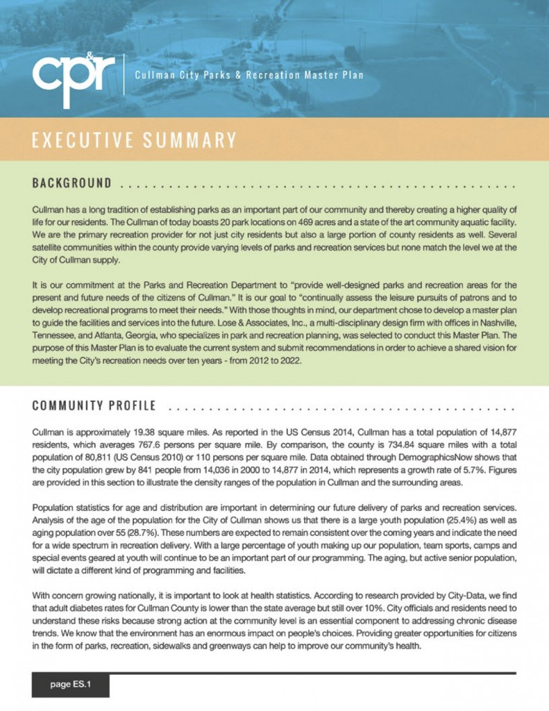 CP&R Executive Summary
